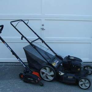 Lot # 96 - Yard Machine 6.0 HP Lawn Mower and B&D Edge Hog Trimmer