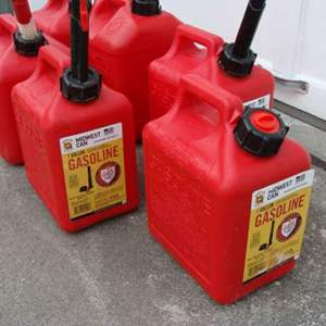 Lot # 98 - Set of Six (6) One Gallon Gas Containers
