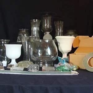 Lot # 104 - Vases and Flower Arrangement Supplies