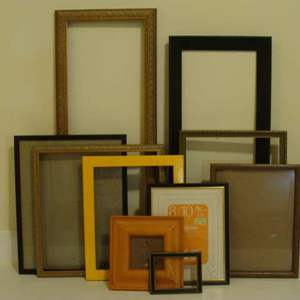 Lot # 112 - Ten (10) Miscellaneous Size and Style Picture Frames