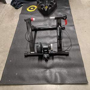 Lot # 155 - Stationary Indoor Bicycle Trainer Stand with mat