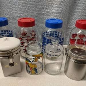 Lot # 183 - Festive, Holiday & Clamp Fancy Jars
