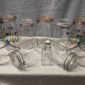 Lot # 184 - Clamp Jars (2L & mixed)