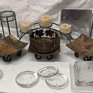 Lot # 186 - Candle Stands and Bases Group