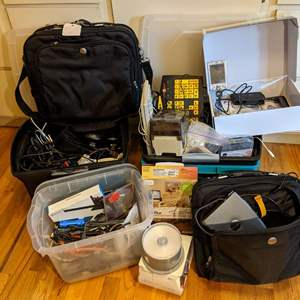 Lot # 188 - Miscellaneous Electronics Package (HP iPAQ, Speakers, Dell Docking)