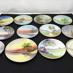 Lot # 23 - Lot of Meito China Hand Painted Plates & More