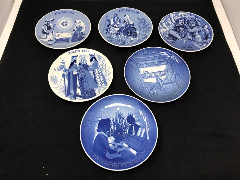 Lot # 24 - Royal Copenhagen Porcelain Plates & Some Porsgrund Norway Collectors Plates (main image)