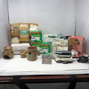 Lot # 103 - New Bath Set, Candles, Polident & More