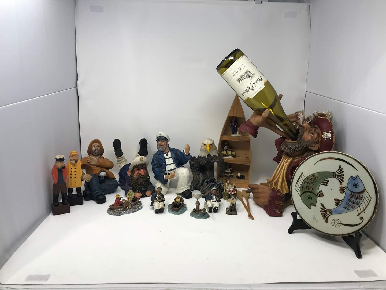 Lot # 107 - Sailor Figurines, Wine Bottle Décor & More (main image)