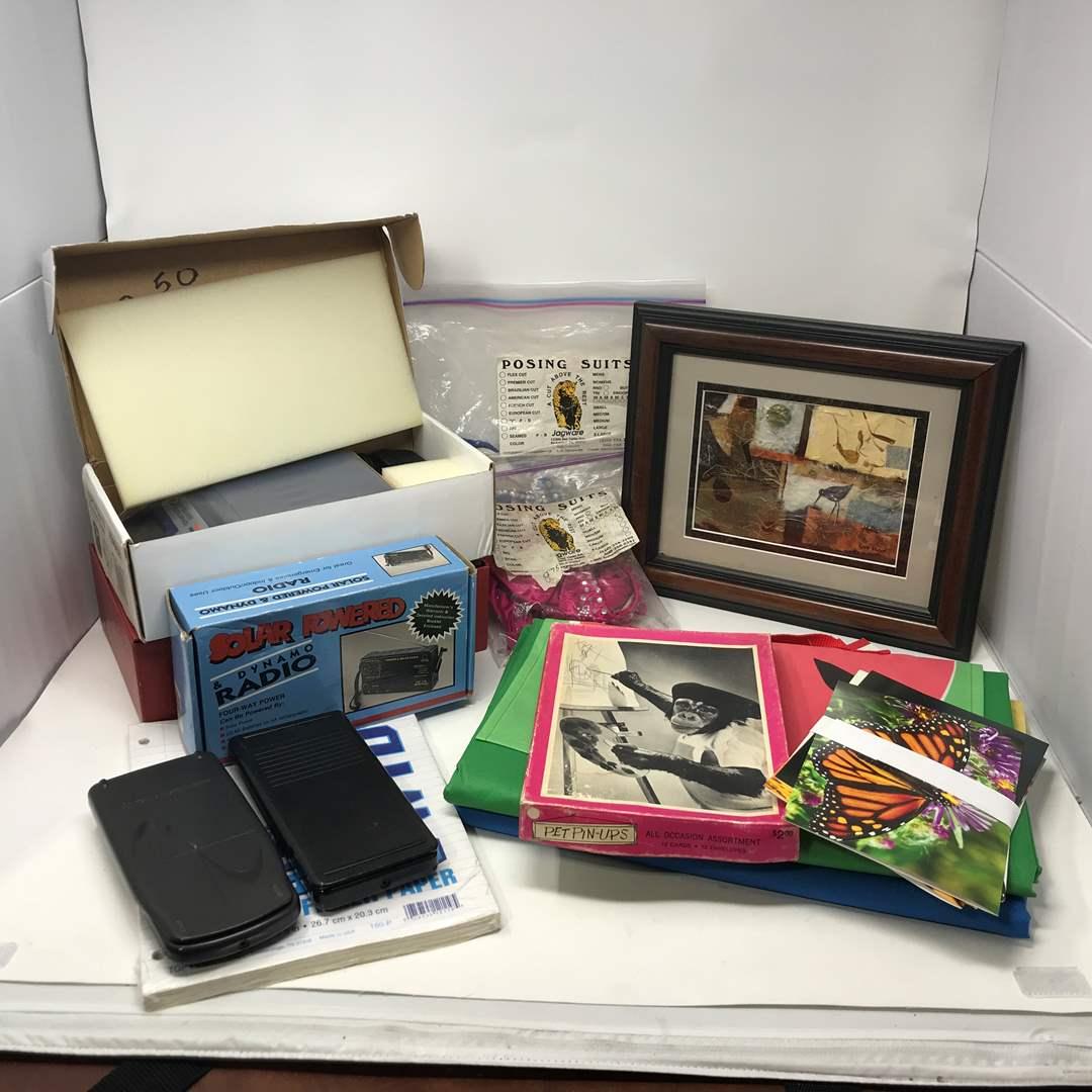 Lot # 109 - UPS Plus 10 Electronic Scale, Solar Powered Radio, Eddie Bauer Sailboat Kit & More (main image)