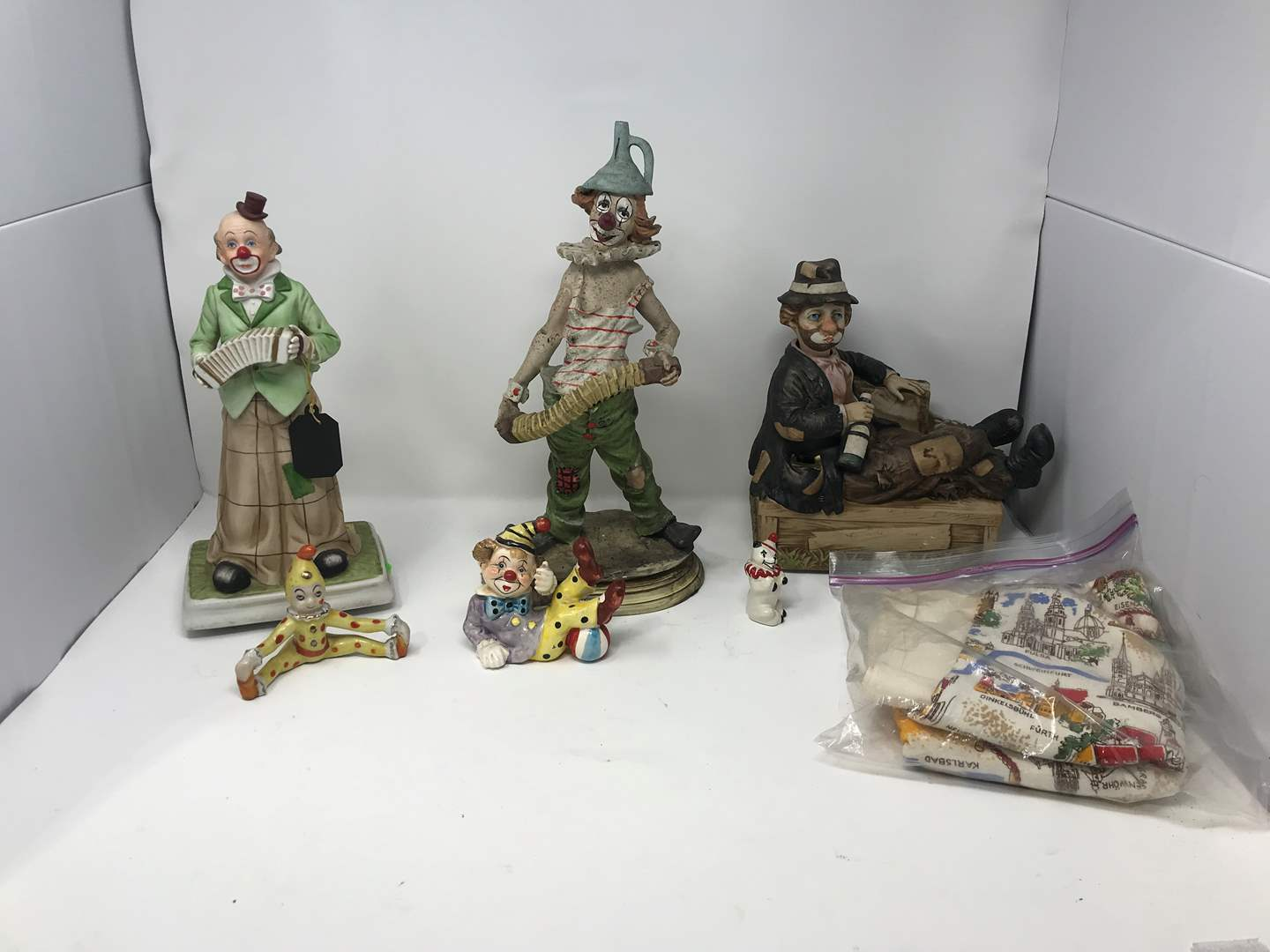 Lot # 111 - Clown Figurines of Various Sizes  (main image)