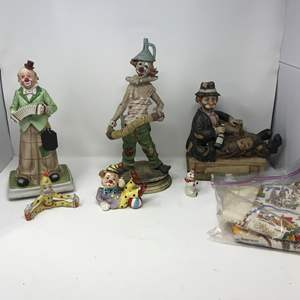 Lot # 111 - Clown Figurines of Various Sizes
