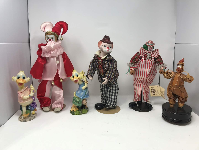 Lot # 113 - Large Clown Dolls (main image)