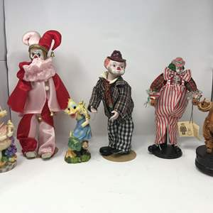 Lot # 113 - Large Clown Dolls