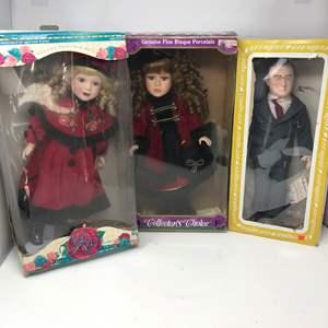 Lot # 118 - 2 Porcelain Dolls & F.D.R. Doll