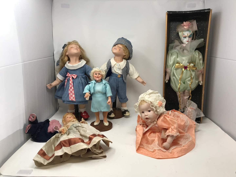 Lot # 119 - 3 Porcelain Dolls & More  (main image)