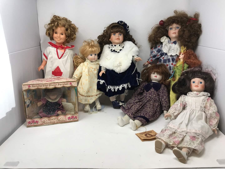 Lot # 120 - Lot of Porcelain Dolls & One Barbie (main image)