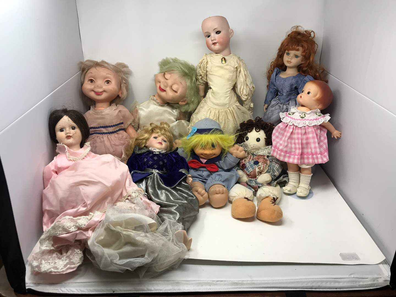 Lot # 151 -  Lot of Porcelain & Plastic Dolls  (main image)