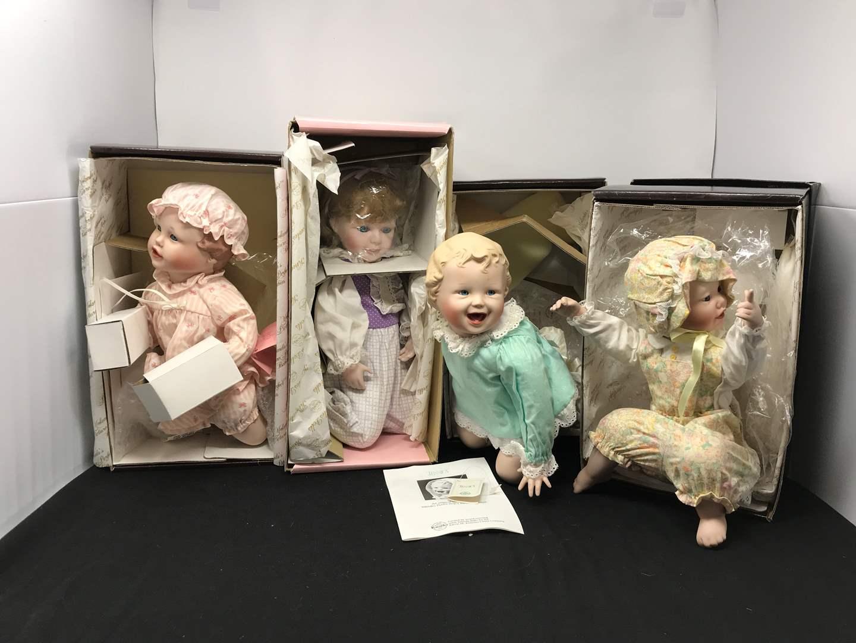 Lot # 154 - 4 Knowels Porcelain Dolls  (main image)