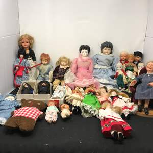 Lot # 175 - Large Lot of Dolls of Various Sizes