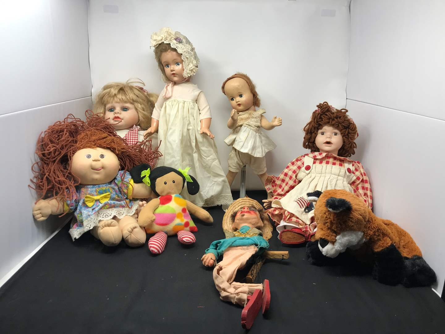 Lot # 177 - Effanbee Doll, One Porcelain Doll, Cabbage Patch Kid & More (main image)