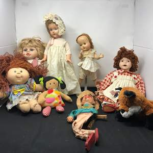 Lot # 177 - Effanbee Doll, One Porcelain Doll, Cabbage Patch Kid & More
