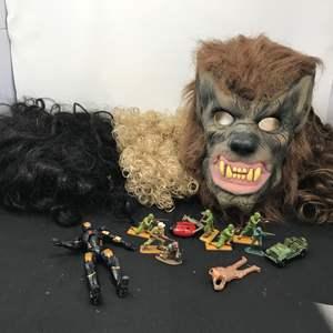 Lot # 182 - Wigs & Wolverine Mask