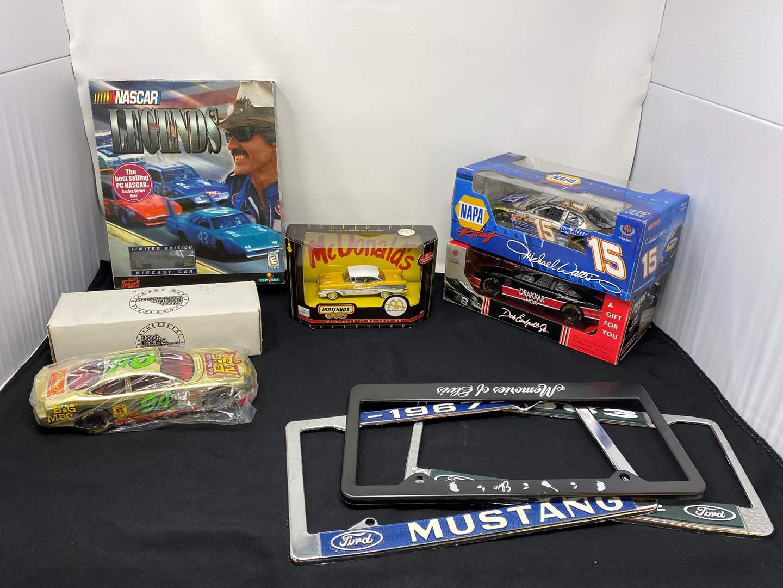 Lot # 6 - McDonald's Matchbox Diecast Car, Diecast NASCAR, Gold Plated Big Mac Diecast & More (main image)
