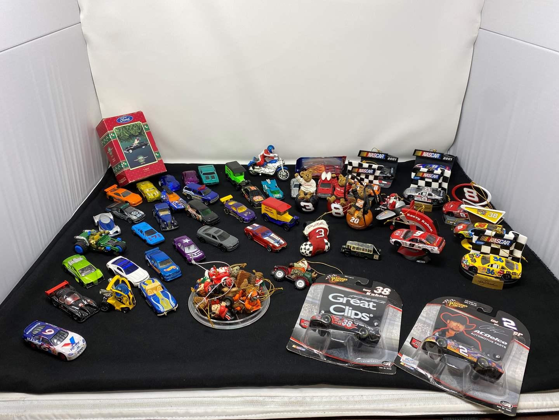 Lot # 9 - Hot Wheels, Matchbox Cars, Nascar Xmas Ornaments & More (main image)