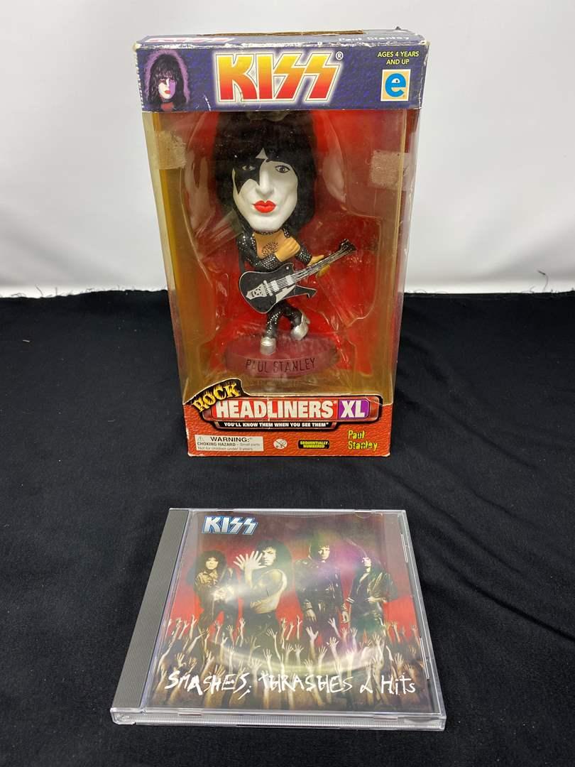 Lot # 14 - New in Box KISS Doll & Music CD (main image)