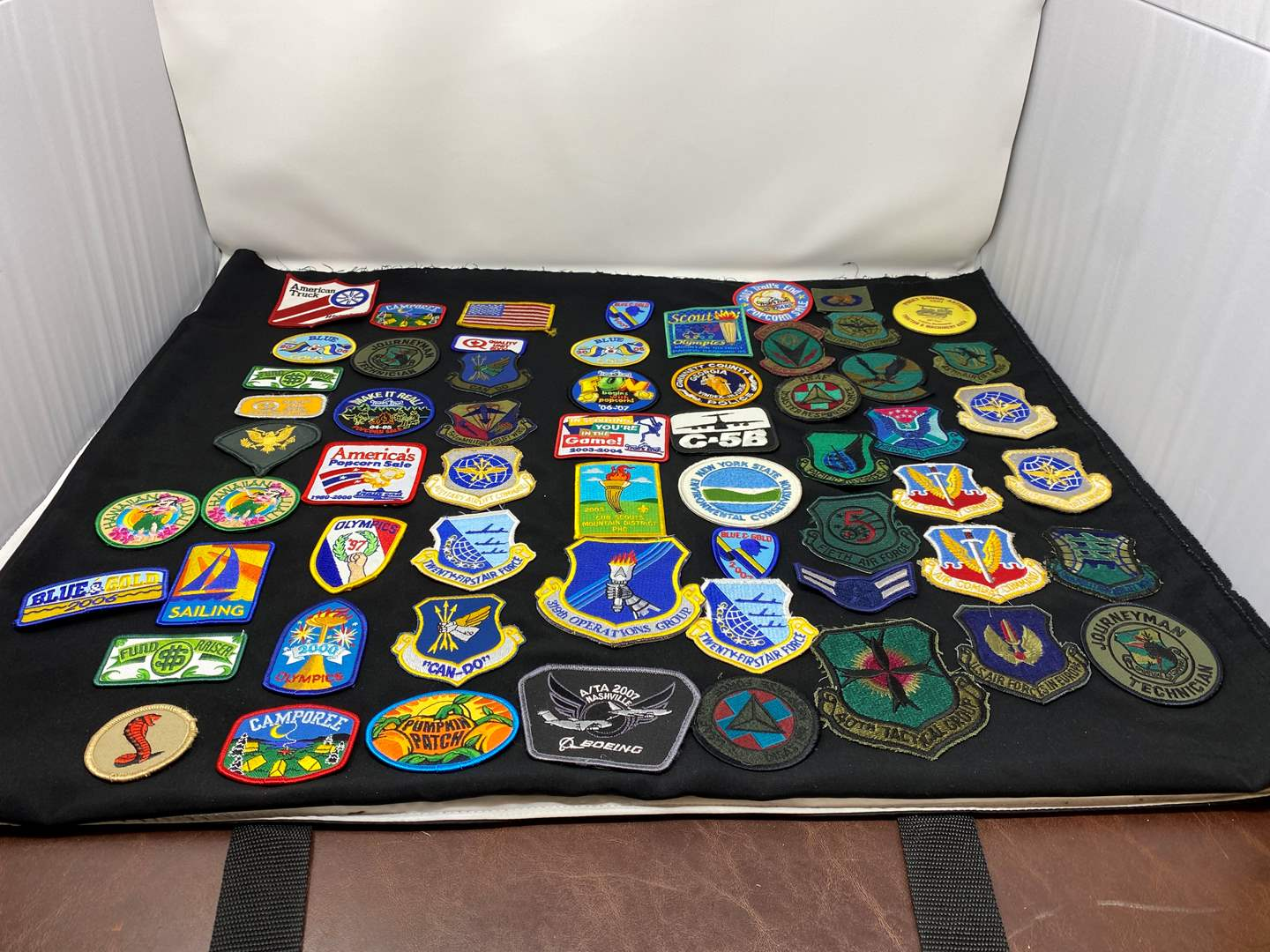 Lot # 15 - Great Collection of Patches: Military, Camp Fire, Boy Scouts & More (main image)
