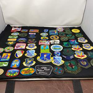 Lot # 15 - Great Collection of Patches: Military, Camp Fire, Boy Scouts & More