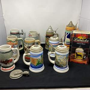 Lot # 41 - Collection of Vintage Beer Steins