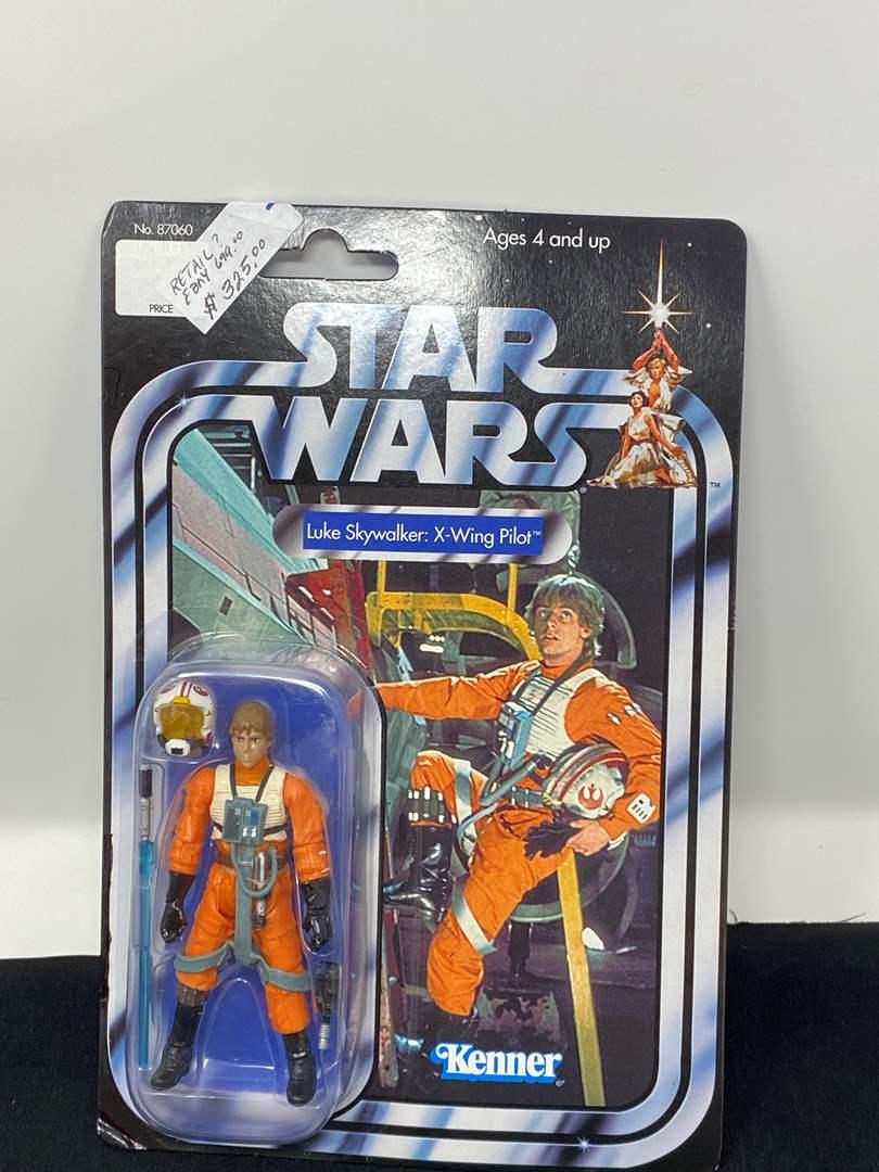 "Lot # 45 - New in Box ""Kenner"" Star Wars Luke Skywalker X-Wing Pilot (main image)"