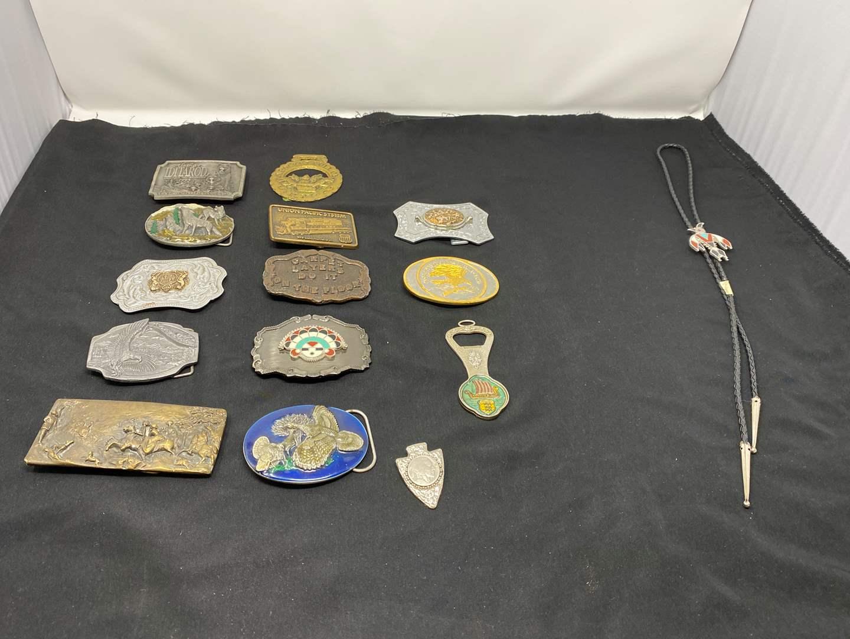 Lot # 61 - Collection of Vintage Belt Buckles (main image)