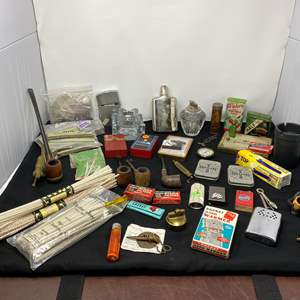 Lot # 62 - Tobacco Pipes, Smoking Accessories, Hand Warmers, Lighters, & More