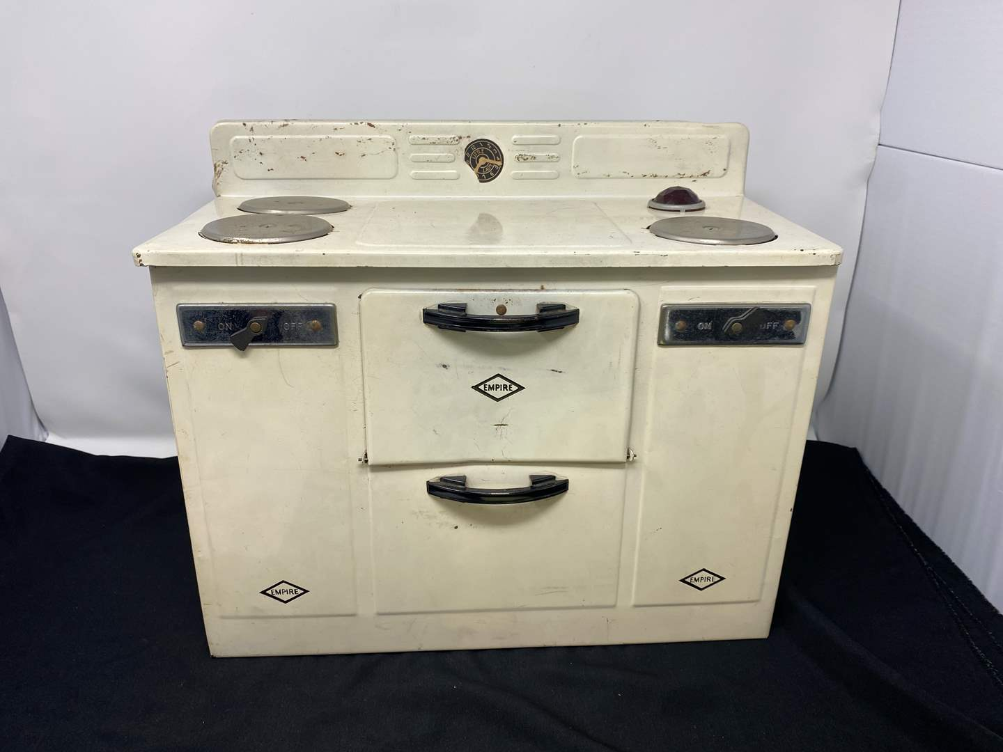 """Lot # 66 - Vintage Metal """"Empire"""" Child Size Electric Oven - (Works) (main image)"""