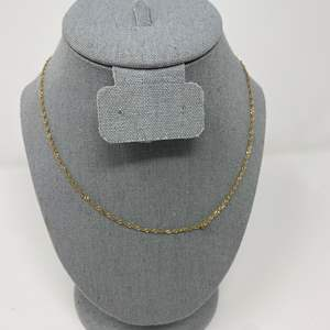Lot # 77 - 14k Gold Necklace - (Stamped & Tested - 2.69 grams)