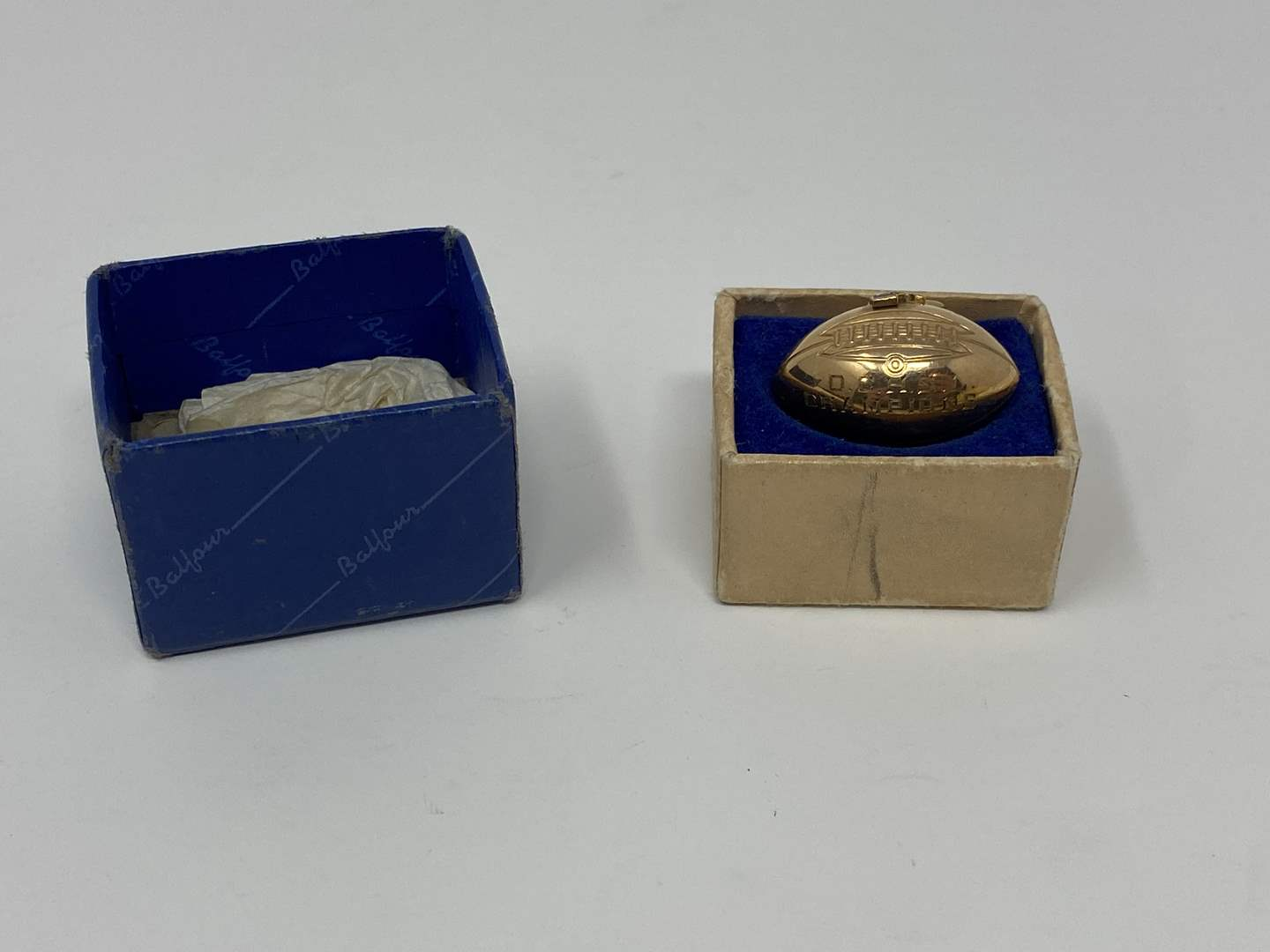 Lot # 86 - 10k Gold 1944 Championship Football Pendant - (Stamped & Tested - 5.83 grams) (main image)