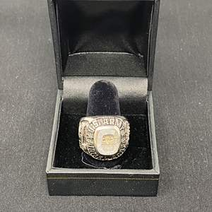 Lot # 91 - Sterling Silver U.S. Army Ring - (Stamped - 18.98 Grams)