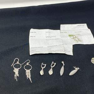 Lot # 92 - Sterling Silver Earrings & More - (Stamped .925 25.69 grams)
