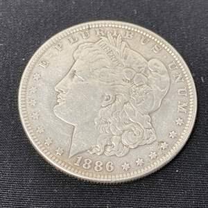 Lot # 94 - 1886 Morgan Silver Dollar - (No Mint Mark)