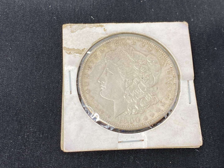 Lot # 95 - 1900 Morgan Silver Dollar - (No Mint Mark) (main image)