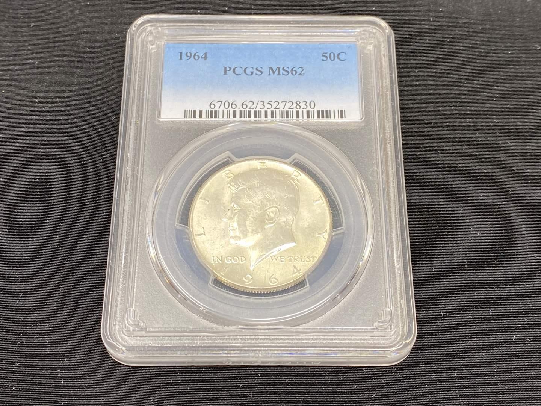 Lot # 98 - 1964 PCGS MS62 Kennedy Half Dollar (main image)