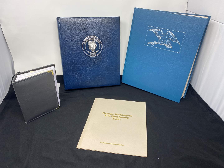 Lot # 122 - George Washington U.S. Mint Stamp Book, First Lady Stamp Book, State Stamp Book & Other Misc. Stamps (main image)