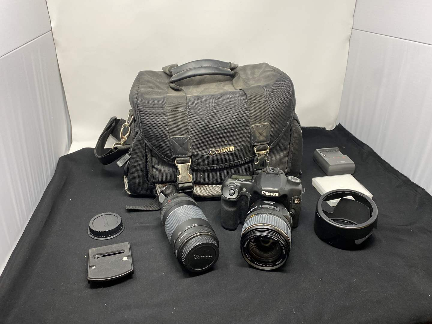 Lot # 128 - Canon EOS 40D Digital Camera w/ Lenses & Carrying Case (main image)