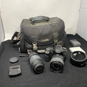 Lot # 128 - Canon EOS 40D Digital Camera w/ Lenses & Carrying Case