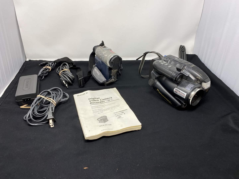 Lot # 134 - Sony & Panasonic Camcorders  (main image)