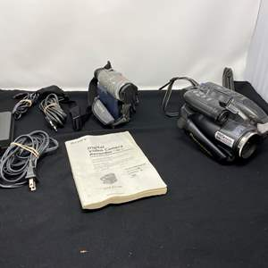 Lot # 134 - Sony & Panasonic Camcorders