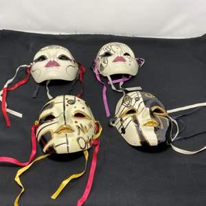 Lot # 138 - Four Signed Masquerade Masks